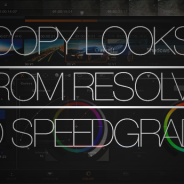 Copy grades from Resolve to SpeedGrade
